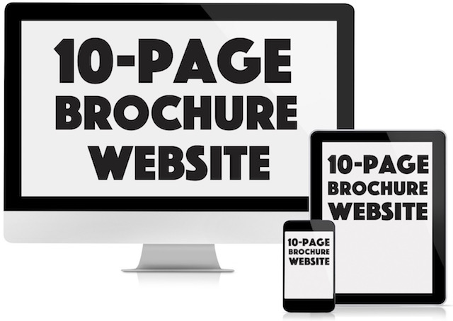 10-page brochure website