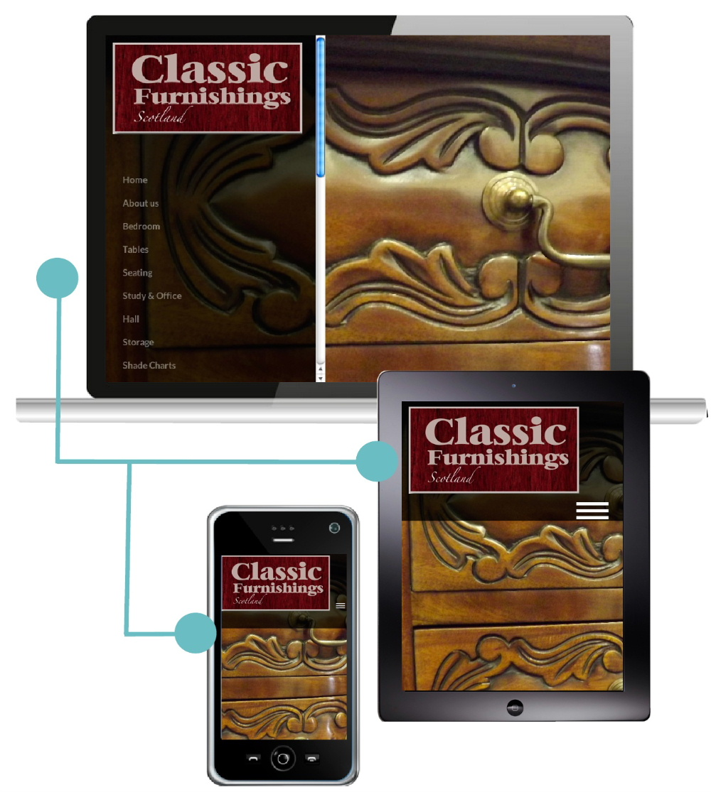 Classic Furnishings Scotland chose Great-Value-Websites.Com to build their all-device-compatible website