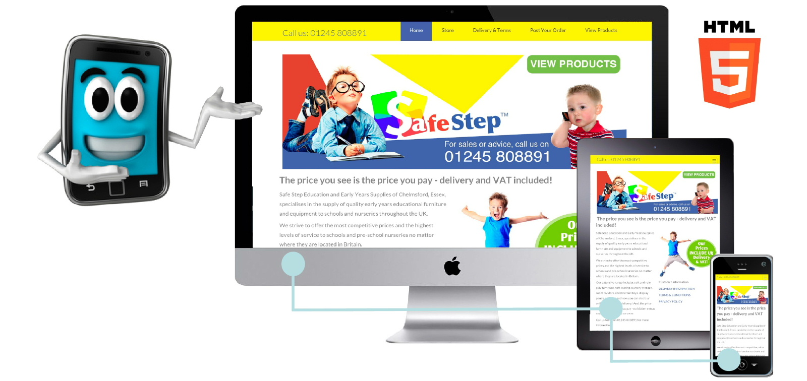 Safe Step Supplies of Chelmsford, Essex chose Great Value Websites to build their responsive ecommerce website