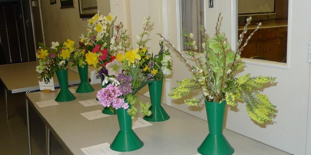 Vases of Mixed Garden Flowers