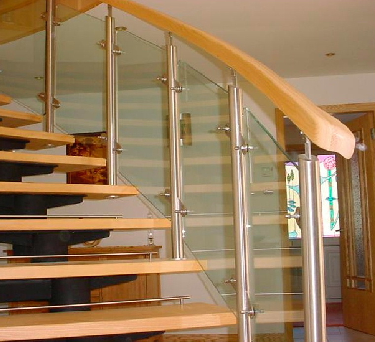 Stunning stainless steel and glass staircases manufactured by E-Teq Engineering of Dalbeattie, Dumfries and Galloway