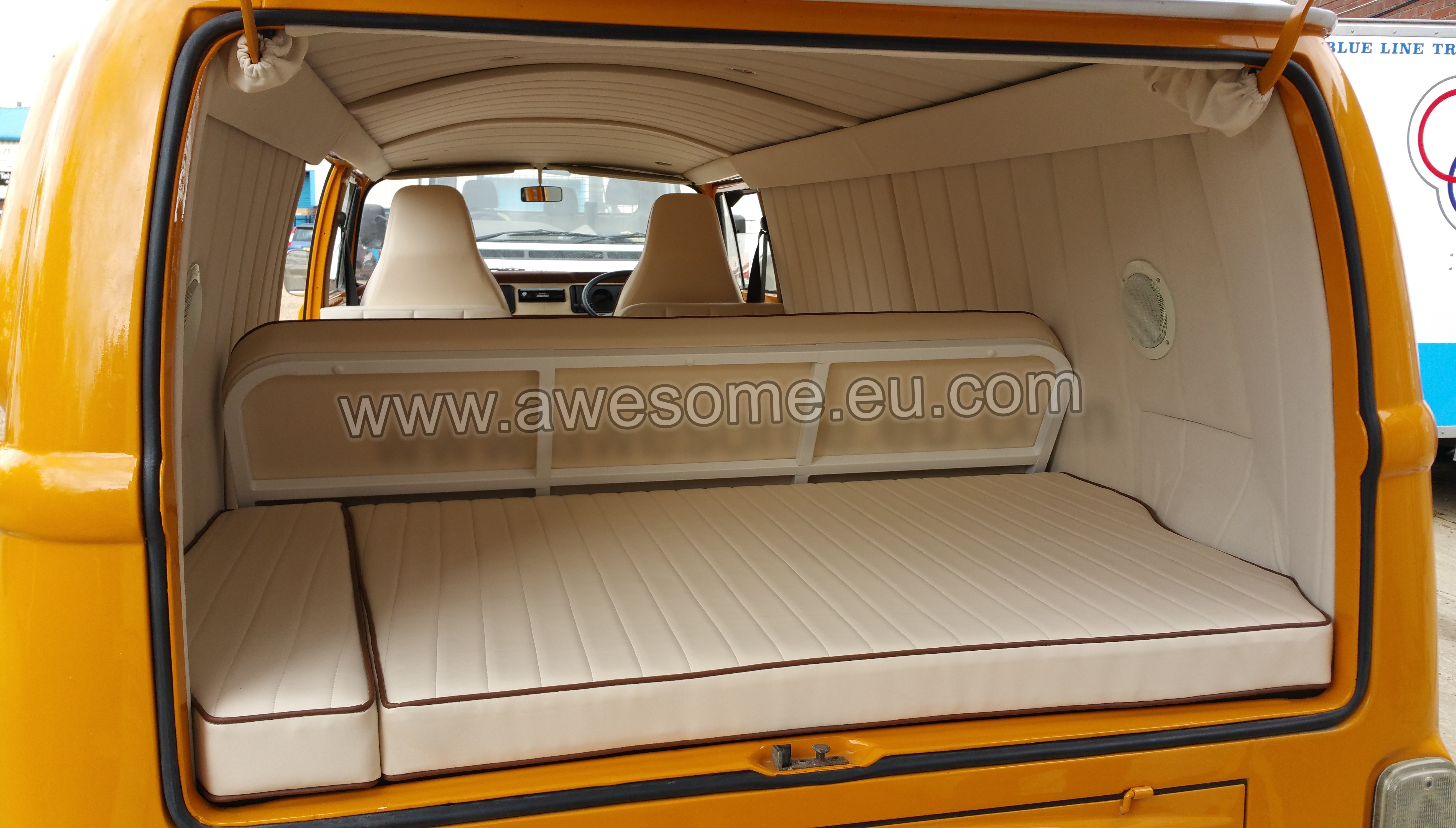 Custom van interior panels pictures to pin on pinterest for Vw kombi interior designs