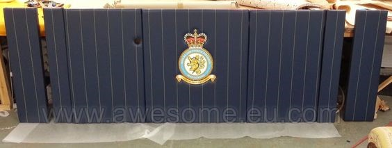 Custom made desk front for the officers mess at RAF Wittering