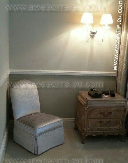 Reupholstered bedroom chair