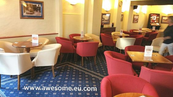 Reupholstered tub chairs for Royston Conservative Club