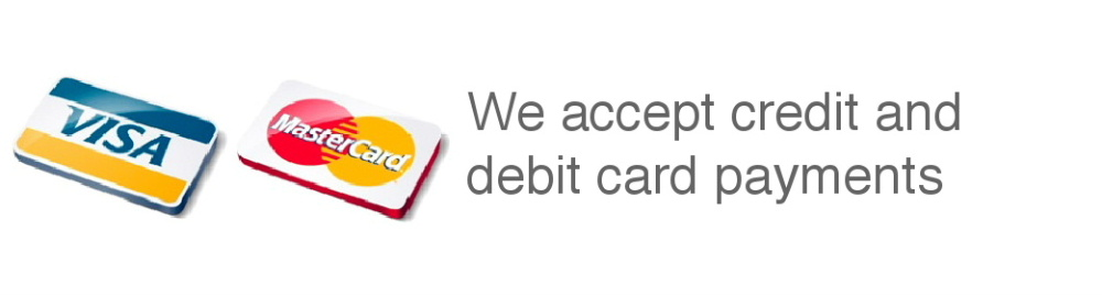 Just Roofs Cheshire accept credit and debit cards