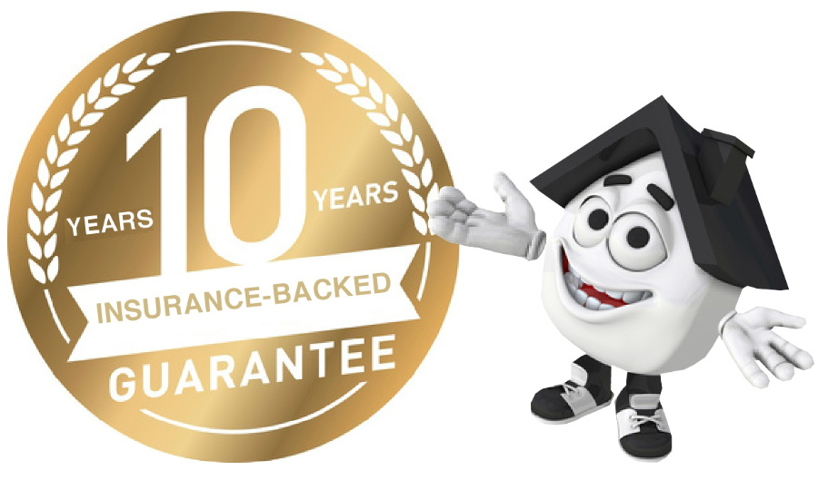 10-year insurance-backed guarantee offered by Just Roofs Cheshire