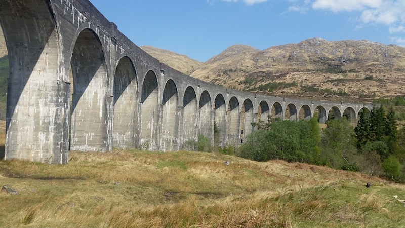 The famous Glenfinnan Viaduct near to Lorien House Bed and Breakfast Fort Augustus Scotland