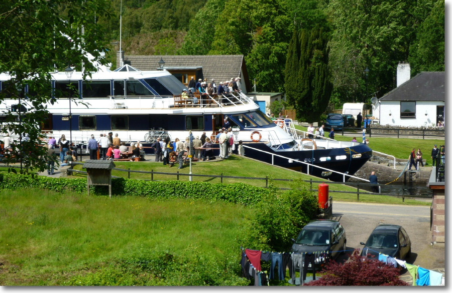 Fort Augustus on the southern banks of Loch Ness