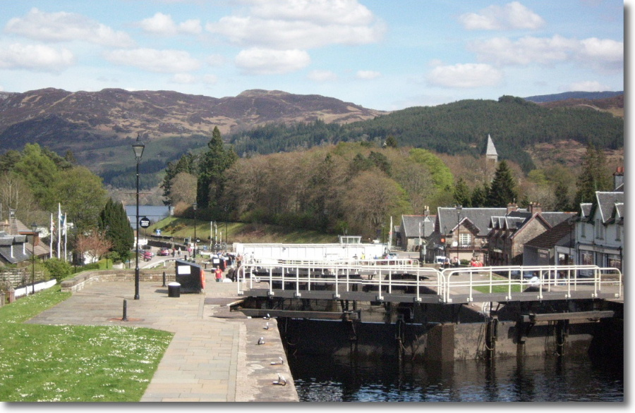 A view of the Caledonian Canal in the town of Fort Augustus
