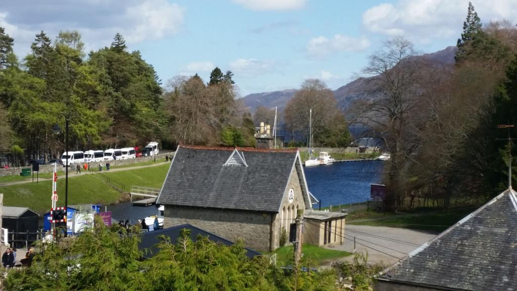 The view from one of the guest rooms at Lorien House Bed and Breakfast Fort Augustus Scotland