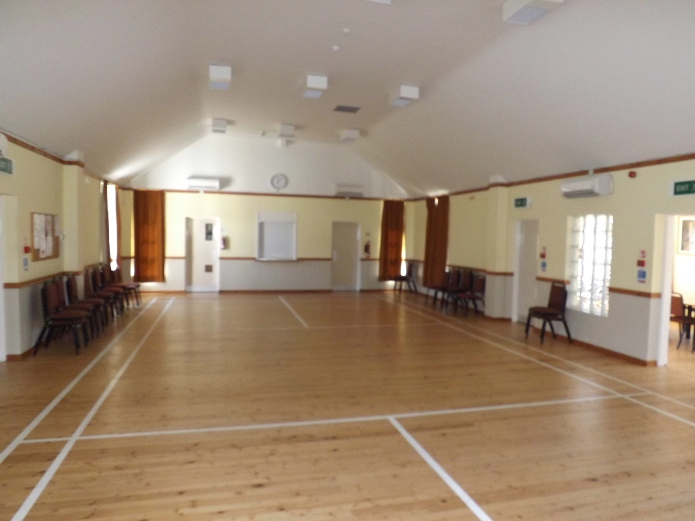 Kippford Village Hall has a large room suitable for a range of classes or even for birthday parties and weddings.