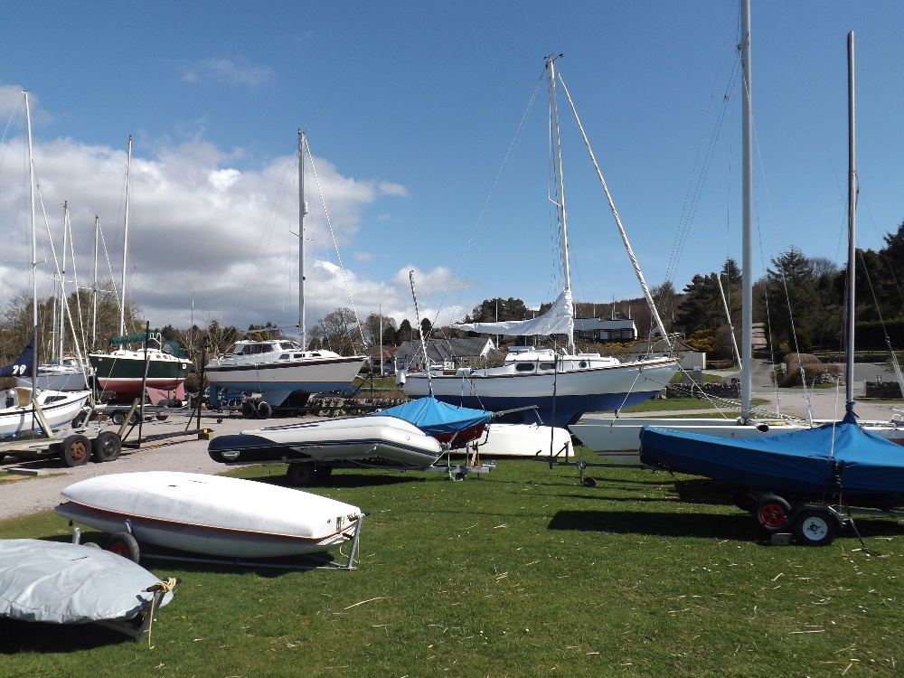 Kippford near Dumfries is a favourite destination for touring yachts.