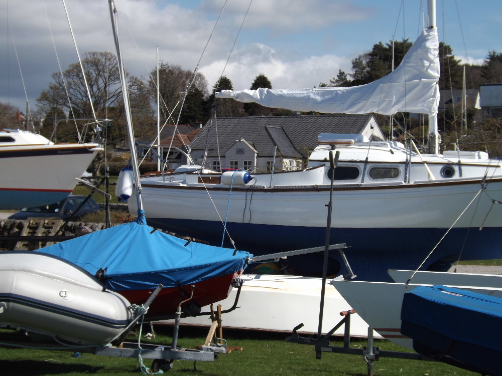Yachts at Kippford, a favourite holiday destination on Scotland's south west coast