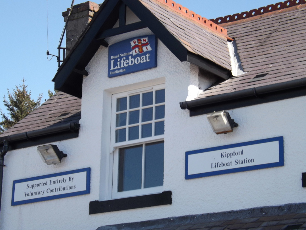 The RNLI station at Kippford on the Solway coast near Dumfries, a favourite destination for touring yachts.