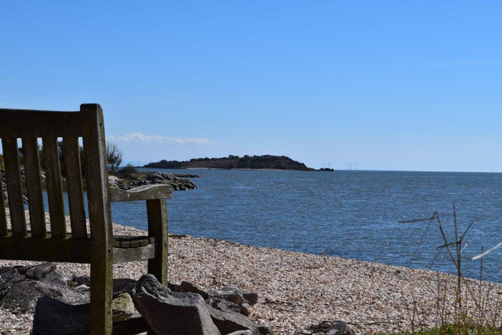 Sit for a while and enjoy the peace and quiet of the Kippford countryside, looking out over the sea.