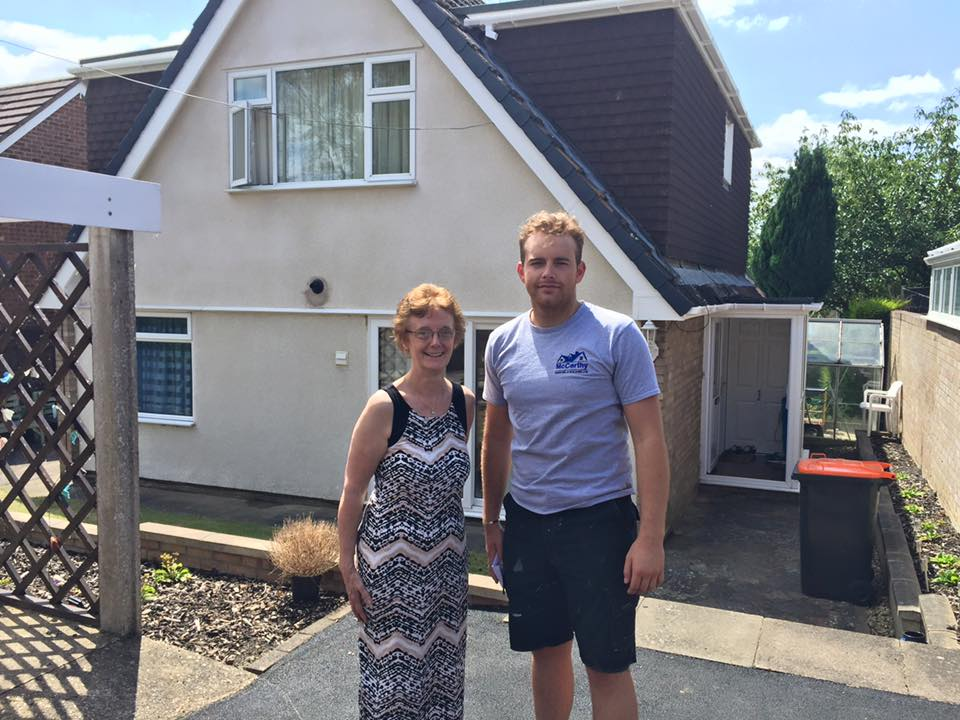 Mrs Lewis, Bletchley, praises McCarthy Roofing and Building Limited of Milton Keynes