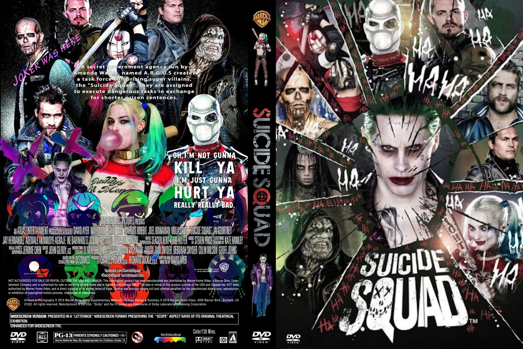 Suicide Squad 2016 DVD Cover