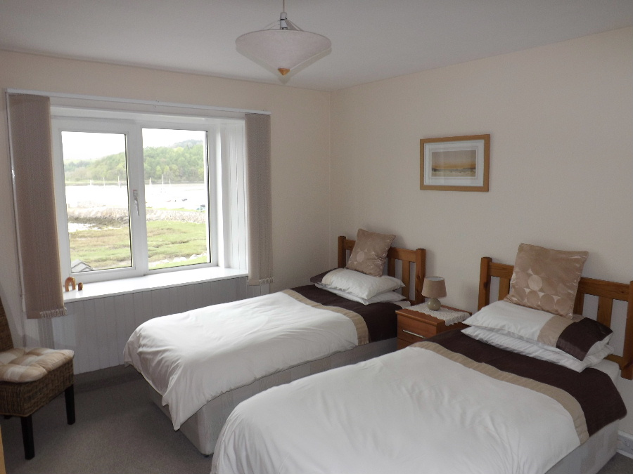 A guestroom at The Mariner Hotel Kippford Dumfries and Galloway Scotland