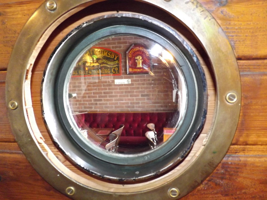 A porthole at The Mariner Hotel Kippford Dumfries and Galloway Scotland
