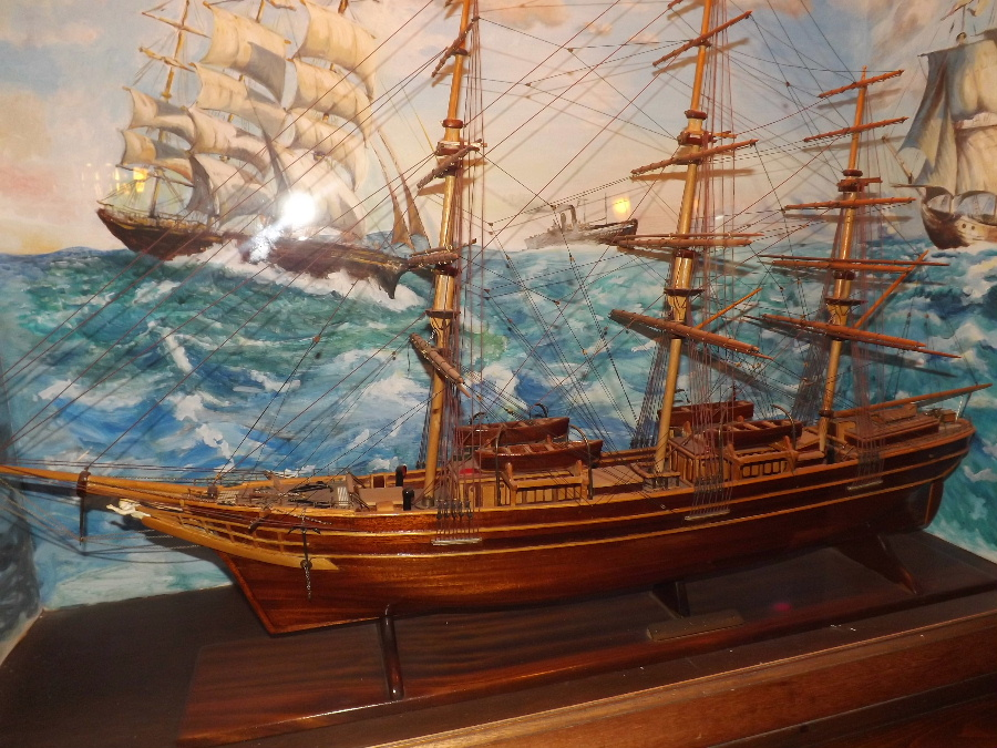 A model of the Cutty Sark at The Mariner Hotel Kippford Dumfries and Galloway Scotland