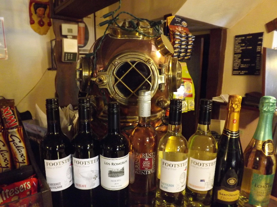 Fine wines at The Mariner Hotel Kippford Dumfries and Galloway Scotland