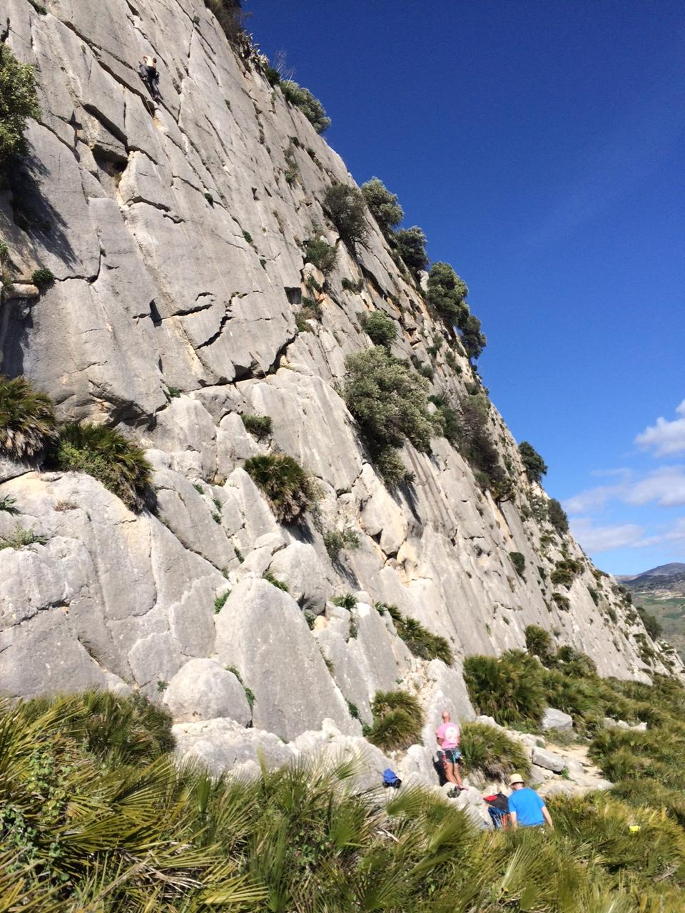 Sports climbing day or Lead climbing preperation day.