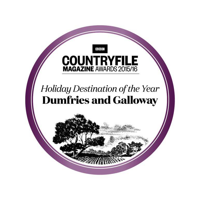 Logo of the BBC Countryfile Magazine Awards 2015-2016 for Holiday Destination of the Year, Dumfries and Galloway