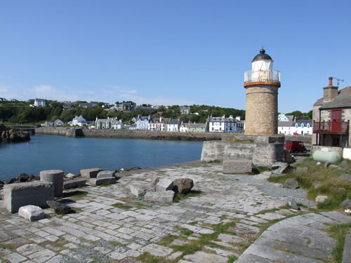 The beautiful harbour and old lighthouse of Portpatrick