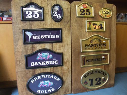 House name plaques Stranraer