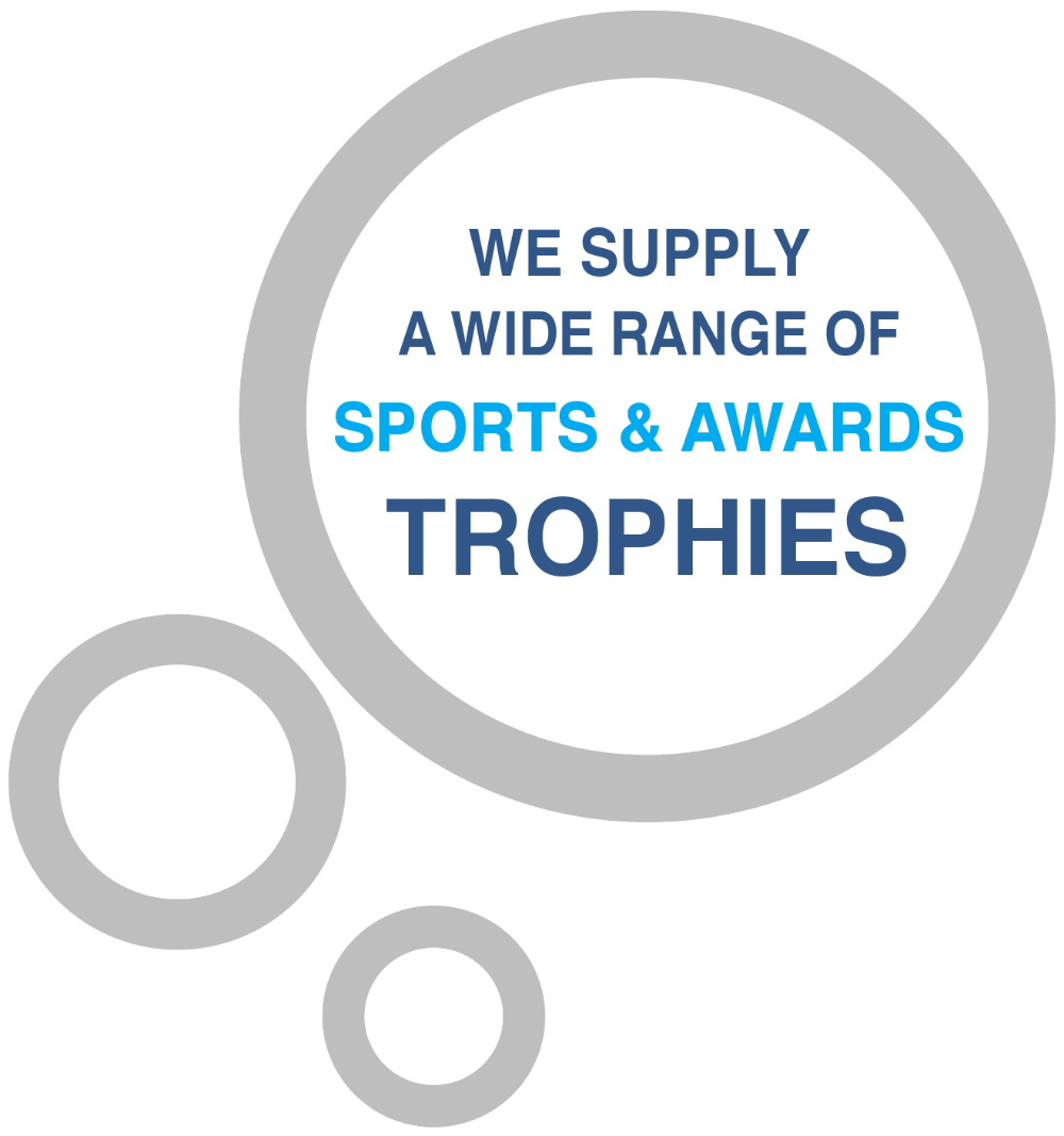 Sports and awards trophies from Quick Return Cleaners, Stranraer