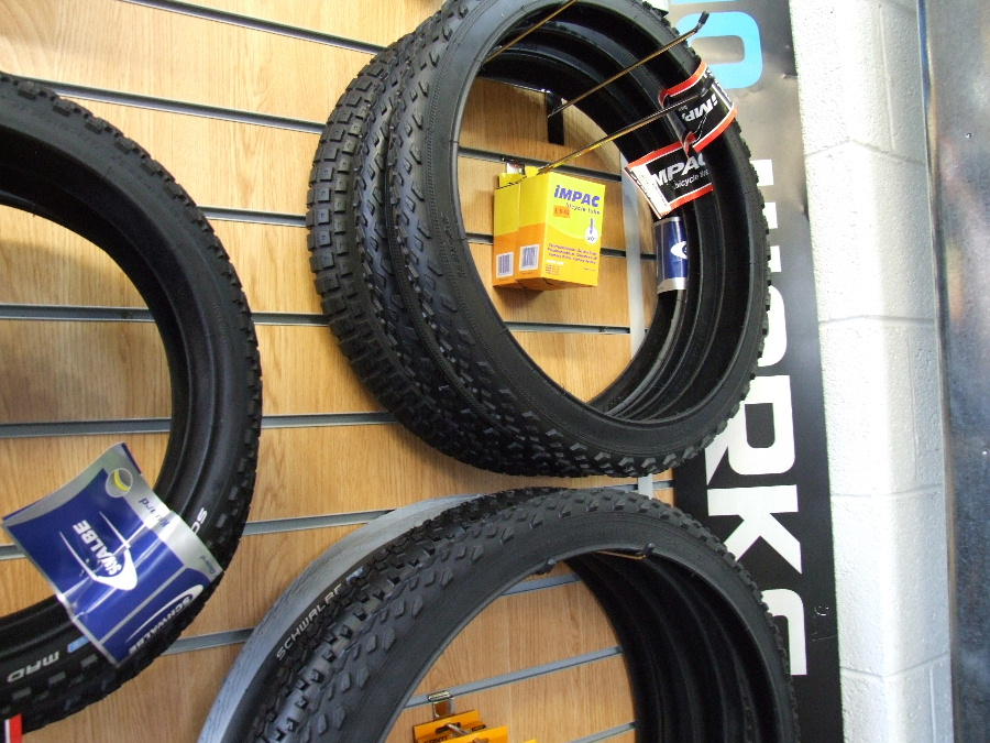 Bike tyres from MPG Cycles Dalbeattie