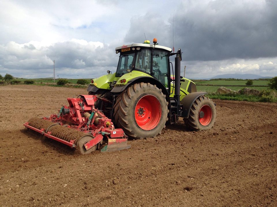 Tilling, drilling and seeding by RG Contracting