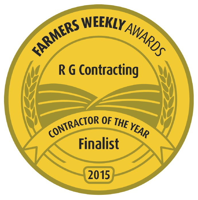 Logo of the Farmers Weekly Awards where RG Contracting was a 2015 finalist in the Contractor of the Year section