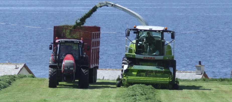 Silage by RG Contracting near Port William, Dumfries and Galloway