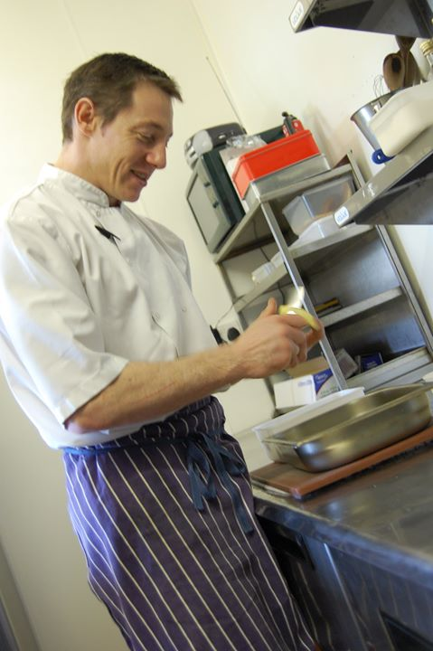 Chef-proprietor Martin Avey of Del Amitri Restaurant in Annan, Dumfries and Galloway, Scotland