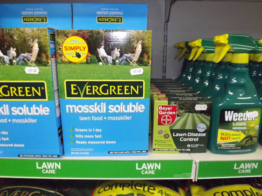 We sell a wide range of Evergreen lawn care products at the Castle Douglas Garden Centre