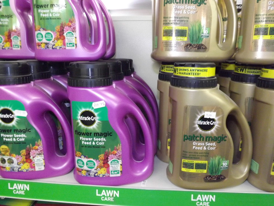 Lawn Care products at the Castle Douglas Garden Centre