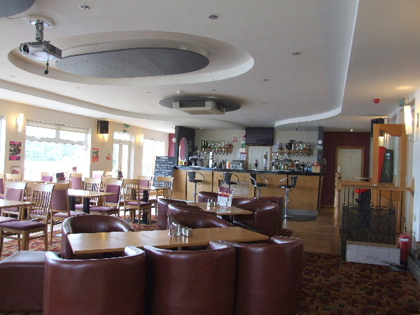 The restaurant at The Inn on the Loch, Dumfries, enjoys stunning views across the loch