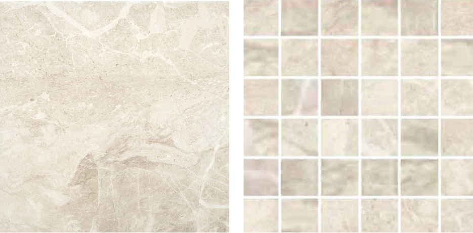 RAK Ceramics tiles with a bone colour marble effect