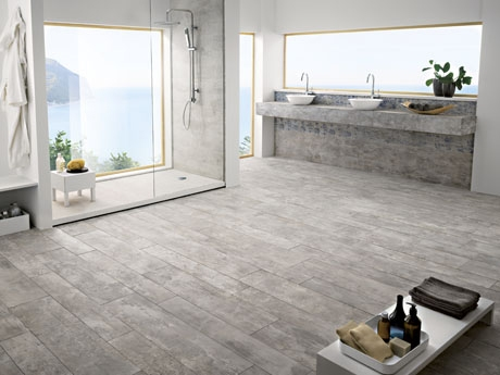 Driftwood Nassau wood effect floor tiles from Dream Tiles Bicester