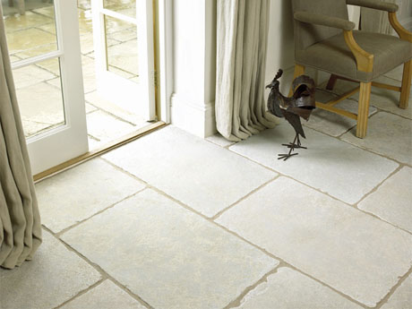 Minster antique stone floor tiles from Dream Tiles