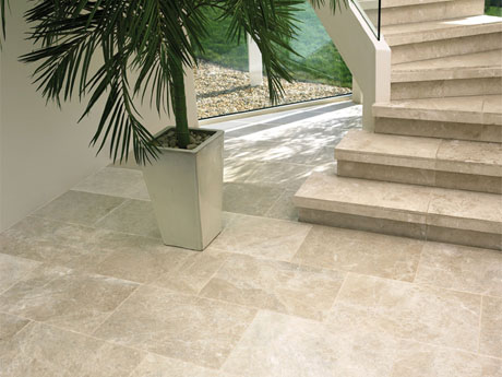 Santa Anna limestone floor tiles from Dream Tiles
