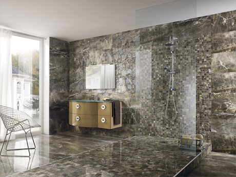Stunningly beautiful floor and wall tiles in porcelain with a marble effect by RAK Ceramics