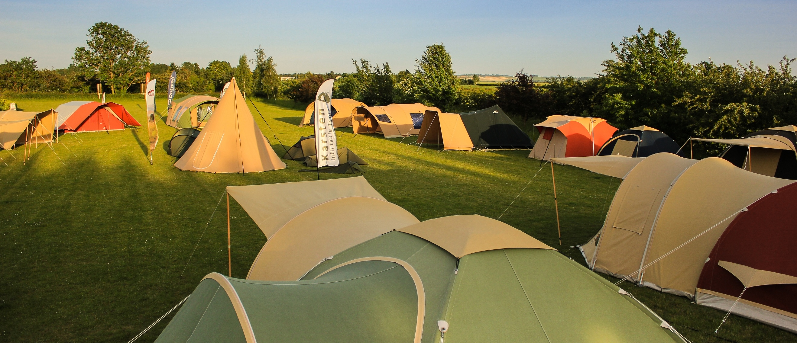 Camping Travel Store Tent Displays