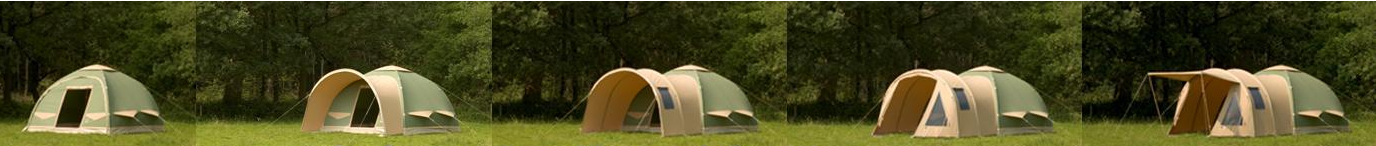 The different awnings of the Karsten Inflatable Tent