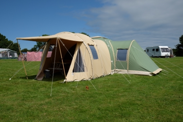 Karsten 325 with Sleeping Extension & Karsten Inflatable Tents