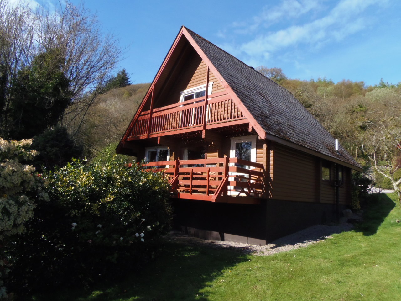 Owl Lodge - Rear of Chalet