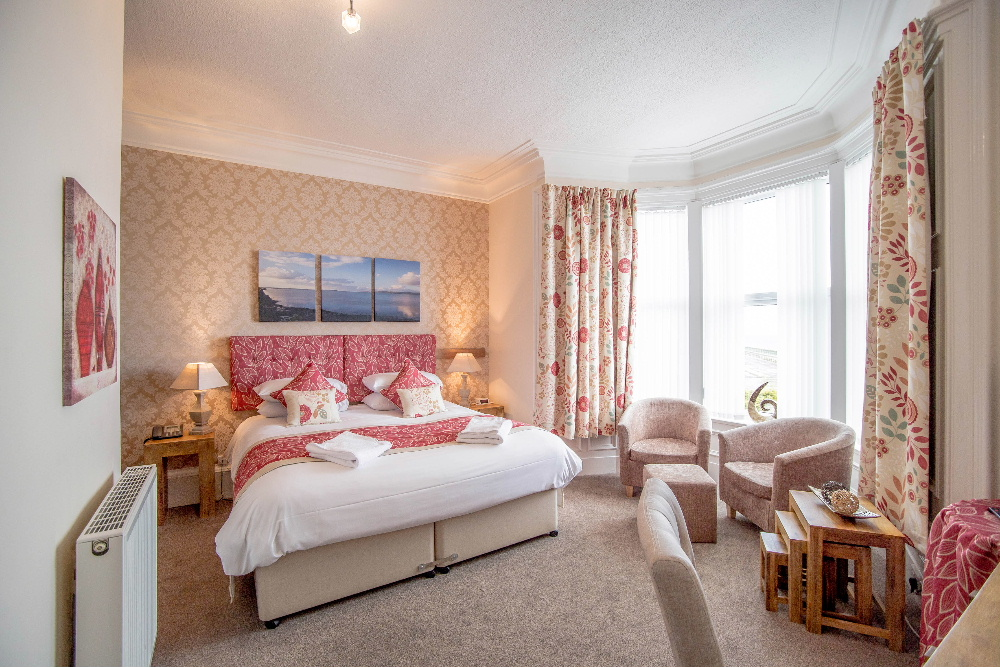 One of the beautiful double guest rooms at the Craignelder Hotel, Stranraer