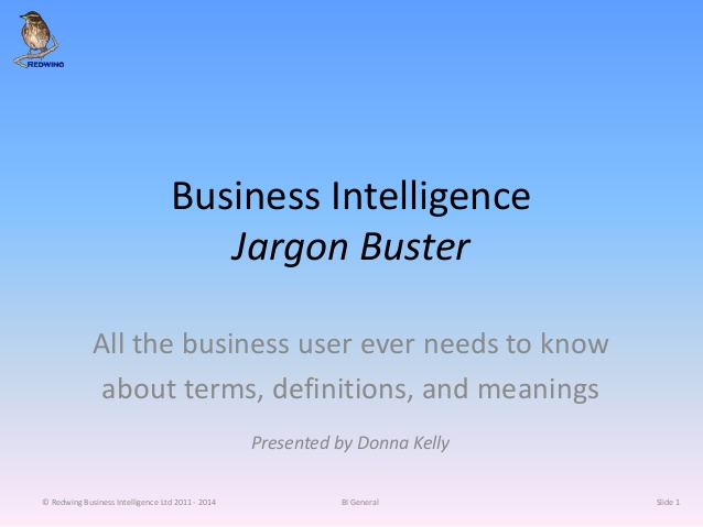 business intelligence jargon buster